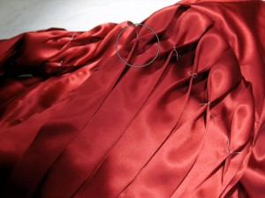 Flemish Pleats in Red Shirt Sleeve