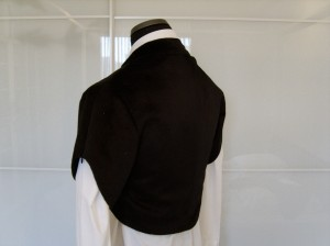 The Slanted Jacket, closed, back