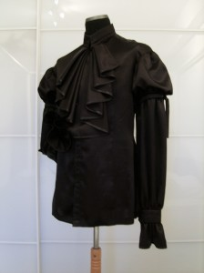 The Black Shirt, front with jabot