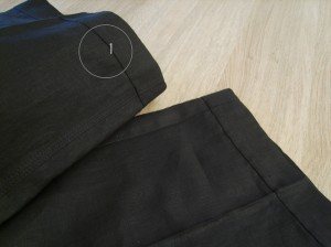 Linen pants, right side