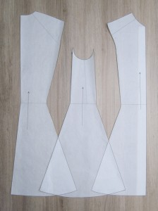 Marquis Coat, Body Patterns (back, side & front)