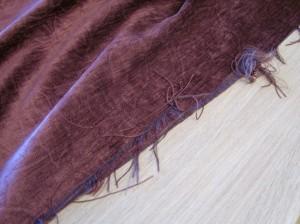 Badly cut raffling red velvet