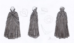 The Scarlet Cape Sketch