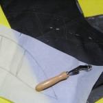 Transfering collar pattern onto interfacing