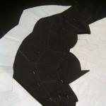 Transfering folded-collar pattern onto fabric