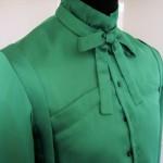 The Green Shirt closure detail