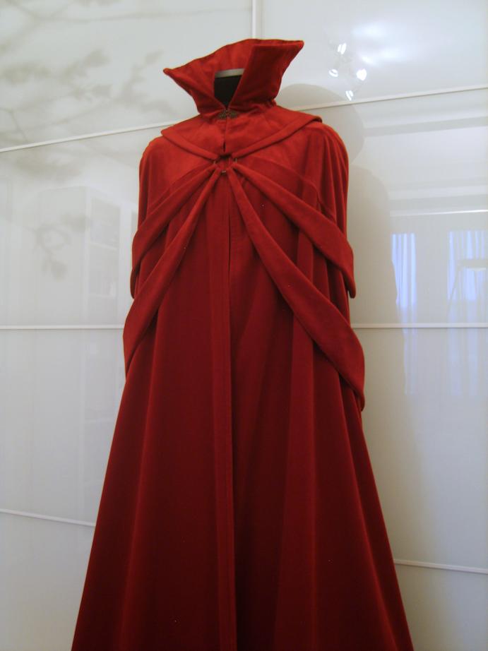 Scarlet Velvet Dracula Bondage Cape front view