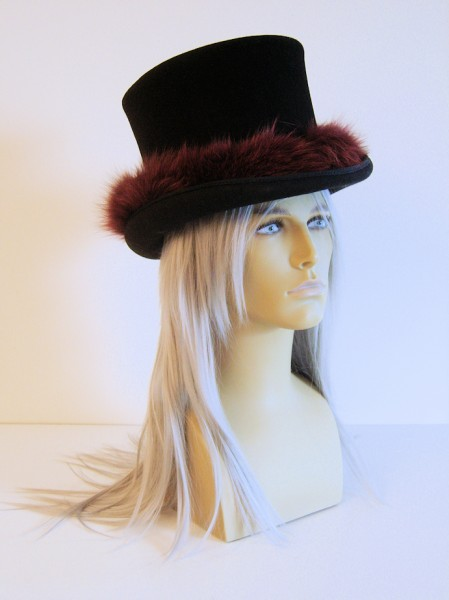 Fur-covered Decorated Gothic Top-Hat