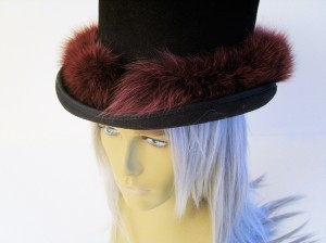 Fur Covered Top-Hat: front closure