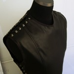 Gothic Leather Tunic with lace-closed shoulders