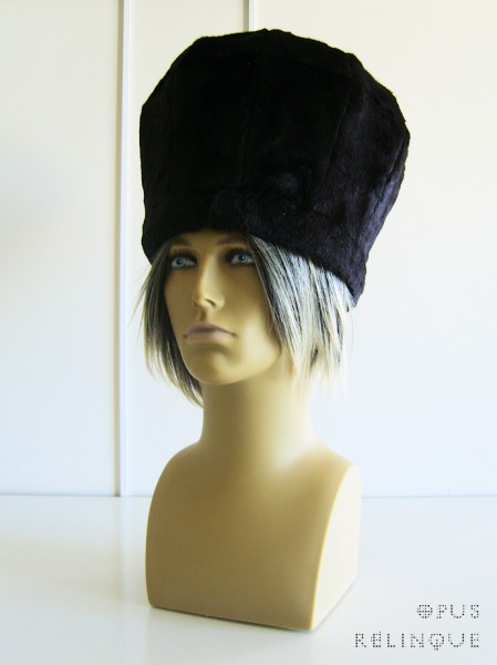 Russian-stylr diamond-cut gothic fur hat.