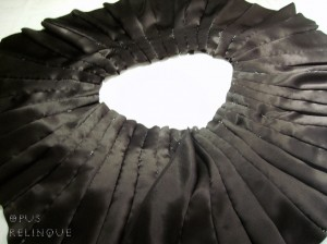 intricate collar construction for gothic blouse