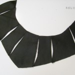 Leather choker-collar pieces