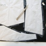 tracing pattern pieces onto leather