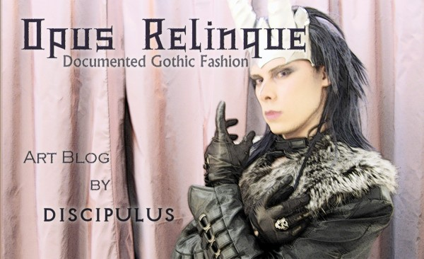 Opus Relinque, documented gothic fashion, horned calling card