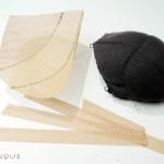 Making shoulder armor: padding and interfacing.
