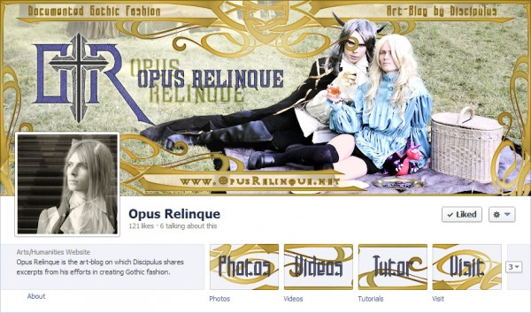 Extravagant gothic floral design for facebook timeline and app buttons