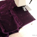 stitching purple curtain folds