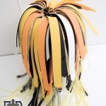 cyber falls with foam crown accent cut in feather strips