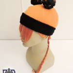 wig to support cyber falls with orange fringe