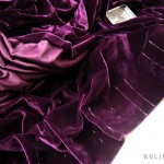 adding pleats to a velvet drapery