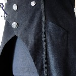 watch-pocket in long sleeveles goth coat