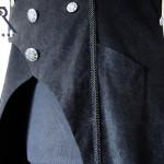 watch-pocket in long sleeveles goth coat